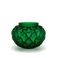 Lalique Languedoc Vase Green Medium