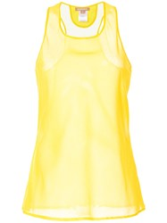 Nehera Sheer Tank Top Yellow And Orange