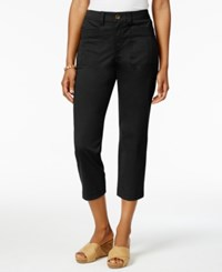 Style And Co Patch Pocket Capri Pants Only At Macy's Deep Black