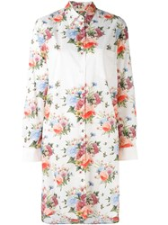 Wunderkind Knee Length Floral Shirt Women Cotton 40 White