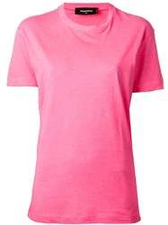 Dsquared2 Hot Wax T Shirt Pink And Purple