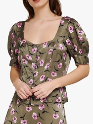 Ghost Penny Floral Print Top Cally Carnation