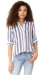 Rails Carter Stripe Button Down Shirt Lisbon Stripe
