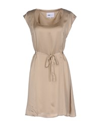 Pop Cph Dresses Short Dresses Beige