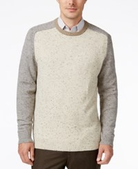 Tricots St Raphael St. Men's Colorblocked Baseball Sweater Natural Heahter Cream