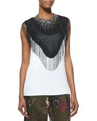 Haute Hippie Beaded Fringe Trim Neckpiece
