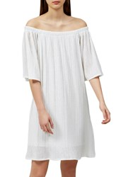 Selected Femme Carin Off Shoulder Dress Snow White