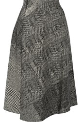 Jason Wu Asymmetric Wool Jacquard Skirt Black