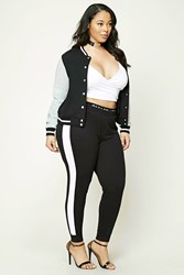 Forever 21 Plus Size Active Sweatpants Black White