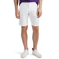 Massimo Alba Washed Linen Cotton Canvas Shorts White
