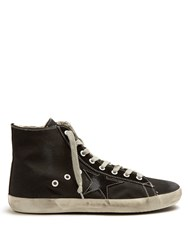 Golden Goose Francy High Top Canvas Trainers Black