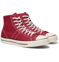Converse Lucky Star Canvas High Top Sneakers Red
