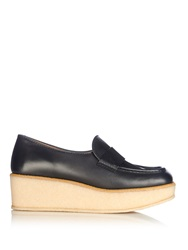 Tomas Maier Square Toe Leather Loafers