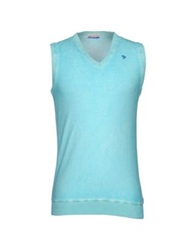 Gentryportofino Sweater Vests Sky Blue