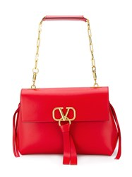 Valentino Garavani V Ring Shoulder Bag Red