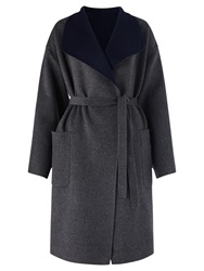 Jigsaw Double Faced Wrap Coat Charcoal