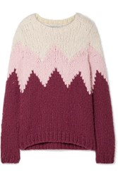 Gabriela Hearst Guillermo Intarsia Cashmere Sweater Baby Pink