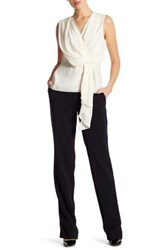 Jason Wu Crepe Full Leg Pant Black