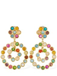 Sylvia Toledano Flower Candies Clip On Earrings Multicolor
