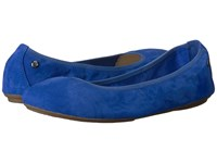 Hush Puppies Chaste Ballet Azure Blue Suede Women's Flat Shoes
