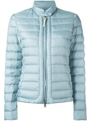 Woolrich Banded Collar Zipped Jacket Blue