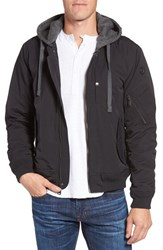 Ben Sherman Men's Hooded Water Resistant Bomber Jacket