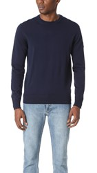 Belstaff Kilsby Cotton Crew Sweater Navy