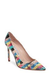 Manolo Blahnik Women's 'Bb' Genuine Python Pointy Toe Pump