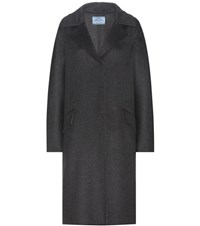Prada Cashmere Coat Grey