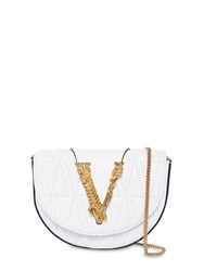 Versace Quilted Leather Belt Bag Optic White