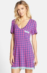 Women's Honeydew Intimates 'All American' Sleep Shirt Blue Houndstooth