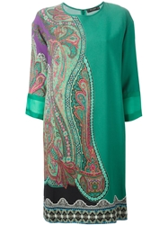 Etro Paisley Print Dress Green