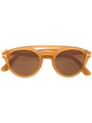 Tom Ford Eyewear Clint Sunglasses Yellow Orange