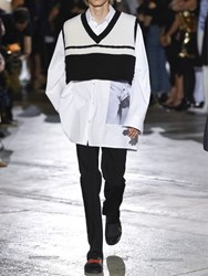 Raf Simons Oversized Cropped Wool Sweater Vest