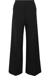 Christophe Lemaire Wool Wide Leg Pants Black