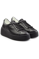 Robert Clergerie Leather Platform Sneakers Black