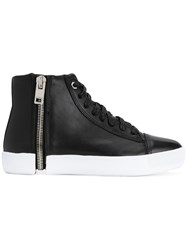 Diesel S Nentish Sneakers Calf Leather Leather Rubber Black