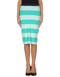Only Knee Length Skirts Green