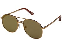 Elizabeth And James Watts Bronze Gold Mirror Lens Fashion Sunglasses Brown