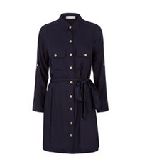 Heidi Klein Belted Shirt Dress Black