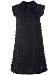 Class Roberto Cavalli Flower Embellished Dress Black