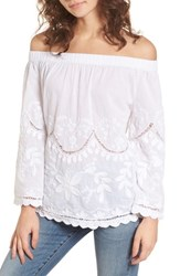 Blank Nyc Blanknyc Embroidered Off The Shoulder Top Get A Clue