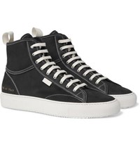Common Projects Tournament Nubuck High Top Sneakers Black