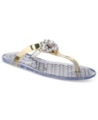 Jewel By Badgley Mischka Harrison Flat Thong Sandals Women's Shoes Gold