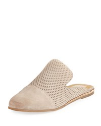 Dolce Vita Asa Perforated Slide Flat Mule Taupe