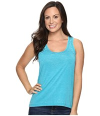 Rock And Roll Cowgirl Hi Lo Knit Tank Top 49 8776 Bright Turquoise Women's Sleeveless Blue