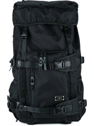 As2ov Square Buckled Backpack Men Nylon One Size Black