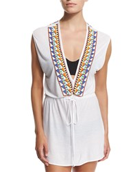 Milly Murano Embellished Coverup Dress Multi