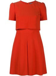 Alexander Mcqueen Layered Skater Dress