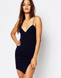 Missguided Cami Body Conscious Dress Navy